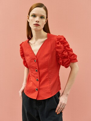 Cockscomb Blouse in Red