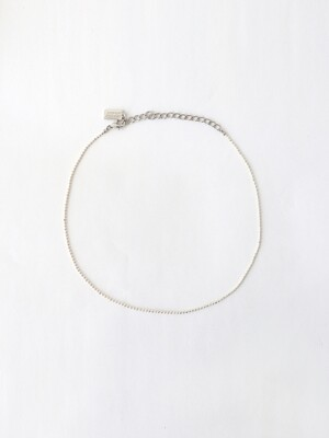 [단독]white ball chain necklace (choker)