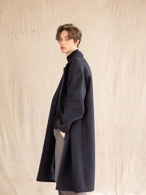 HALF DOUBLE OVER-FIT LONG COAT