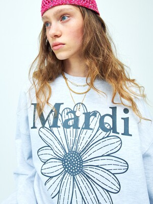 [EXCLUSIVE] SWEATSHIRT FLOWERMARDI HEATHER-GREY