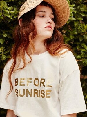 BEFORE SUNRISE TEE (WHITE/GOLD)