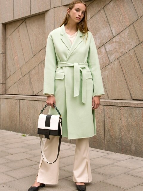 GRACE OVERSIZED CASHMERE HANDMADE COAT awa116w(Fresh Mint)