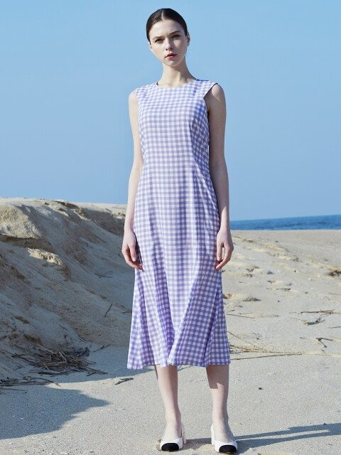 gingham mermaid midi dress