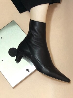 UV SLIM ANKLE BOOTS 5cm M-IG-180902 BLACK