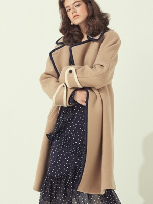BINDING DOUBLE COAT - BEIGE