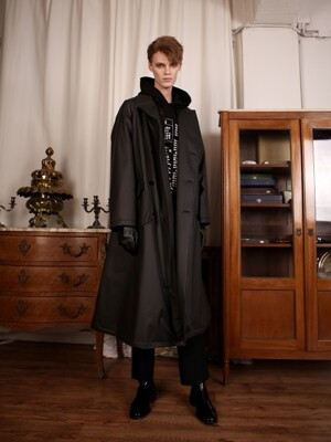 [UNISEX]OVERSIZED TRENCH COAT