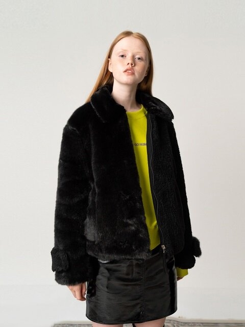 R ECO FUR MIX BLOCK JP_BLACK