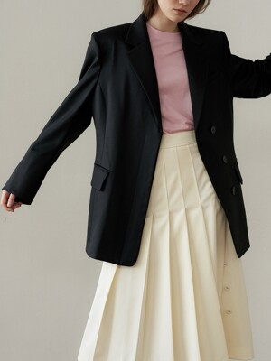 half double wool jacket_black
