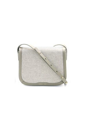 FLAP SADDLE BAG - BEIGE