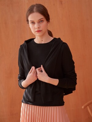 BASIC CASHMERE CARDIGAN (BLACK)