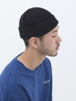 COTTON WATCH CAP (BLACK)