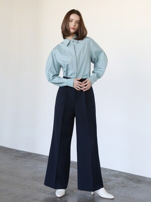 Valuable wide pants_Navy