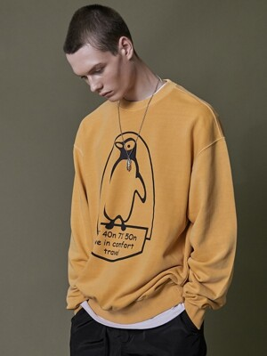 PENGUIN PIGMENT SWEATSHIRT YELLOW