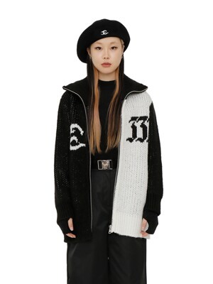 C COWICHAN ZIP-UP CARDIGAN_BLACK
