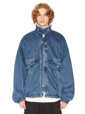 DENIM SHERPA JACKET blue