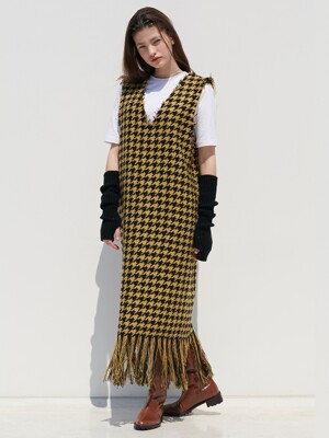 TWEED DRESS_YELLOW
