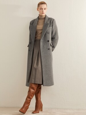 WOOL DOUBLE BREASTED COAT_GREY