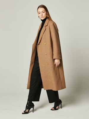 19WN WOOL MINIMAL DOULE LONG COAT Beige