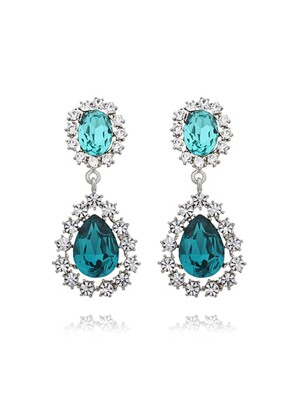 Double Color Crystal ``drop`` Earrings