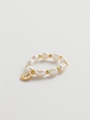 COIN PEARL RING_CR0458