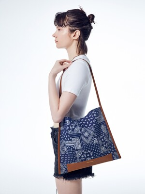 JOY SHOPPER PAISLEY_navy