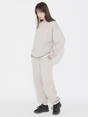 Cotton Sweat Pants Light Grey