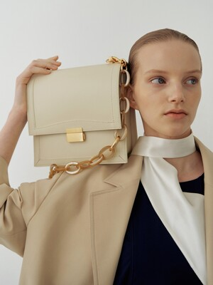 Brick square bag (Ivory)