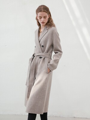 HANDMADE HERRINGBONE DOUBLE COAT_2Colors [U0W0H801]