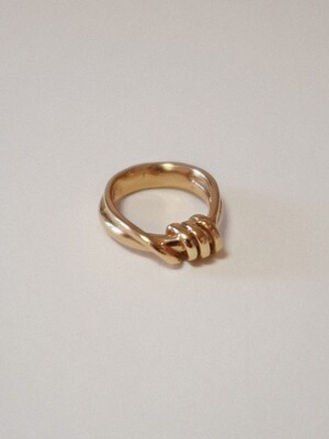Double Coiled ring Gold