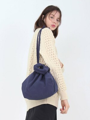 Cotton string bag ver.2 [Navy]