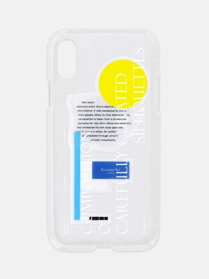GOUACHE JELLY PHONE CASE (WHITE)