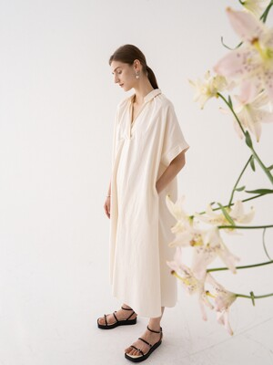 SS21 Maxi Shirt Dress From Japan (SHIBAYA) Ecru