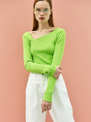 Basic Square Knit Top(3Colors)