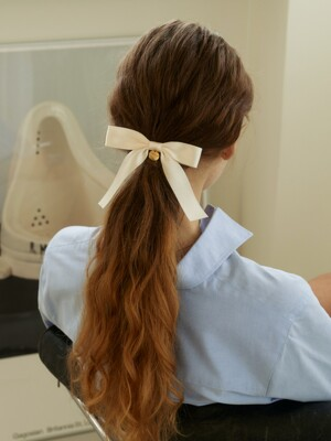 ribbon hair pin (ivory)