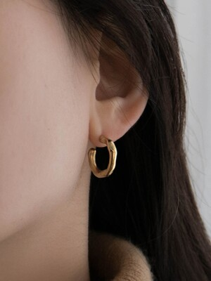 Frozen Water Earring_Gold