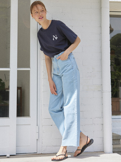 Comfy Denim Pants - Blue