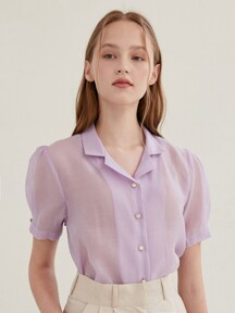 [By Joorti] J195 See-through puff blouse (pink)