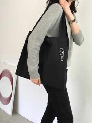 unfold logo bag - black