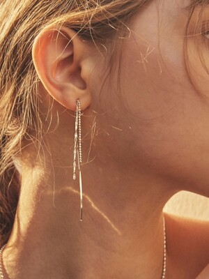 3CHAIN `drop` EARRING