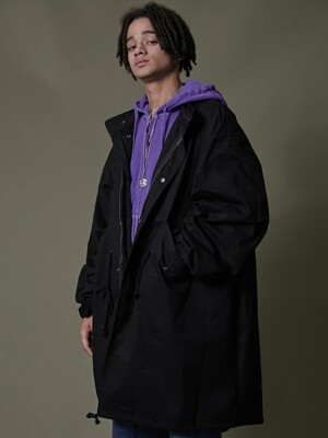 TRAVELER M-51 FISHTAIL COAT BLACK