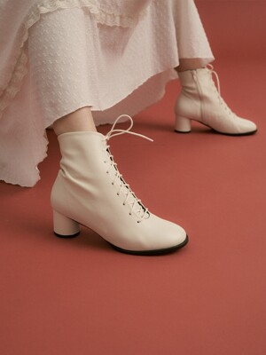 cookie ankle boots - ivory