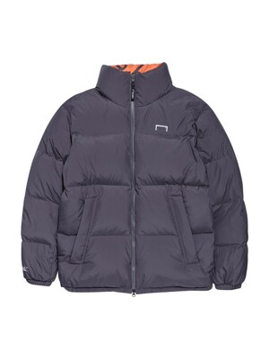 REVERSIBLE DOWN PARKA - ORANGE/GRAY