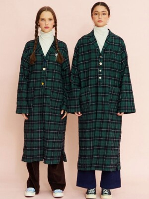 AUTUMN CHECK ROBE - LARGE