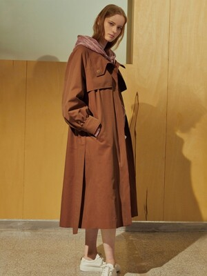 (BECKY) HIGH NECK TRENCH COAT