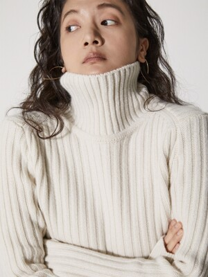 Ribbed Turtle Knit_Ivory