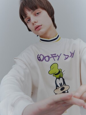 [DISNEYxORDINARY PEOPLE] Have a goofy day cream sweat shirts
