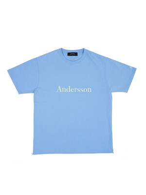 UNISEX ANDERSSON SIGNATURE EMBROIDERY T-SHIRT atb211u_BLUE