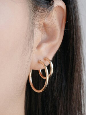 14k gf onetouch ring earrings (4size)(14k골드필드)