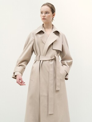 FW20 Simple Trench Coat Hazelnut