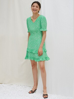FRIDA DRESS, GREEN